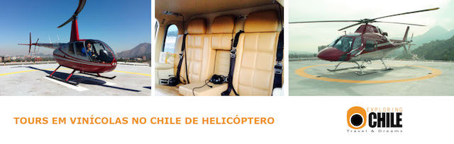 Viníolas do Chile de helicóptero
